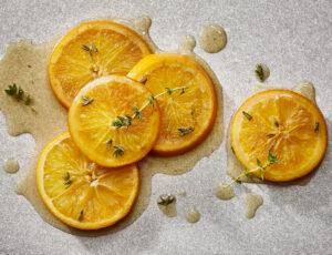 Oranges mijotées au sirop d'érable