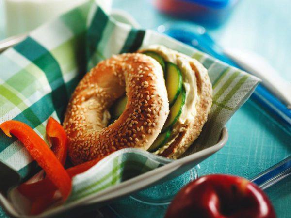 Recette — Bagels au concombre et à l'érable