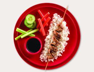 Brochettes en habit wasabi à l'érable