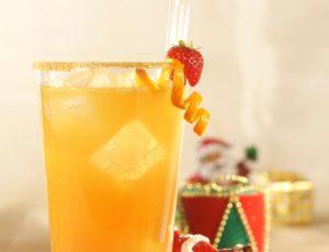 Cocktail pétillant aux fruits et à l'érable