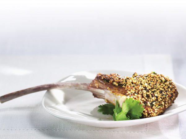 Recette — Côtelettes d'agneau en croûte de sésame et érable