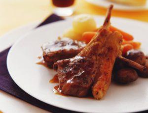 Côtelettes d'agneau, sauce à l'érable
