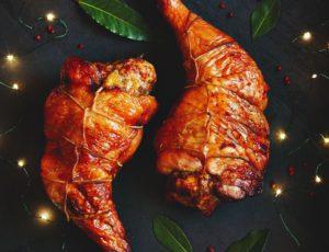 Cuisses de dindon farcies au foie gras et à l'érable