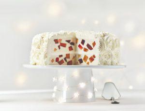 Gâteau panna cotta aux deux gelées à l'érable