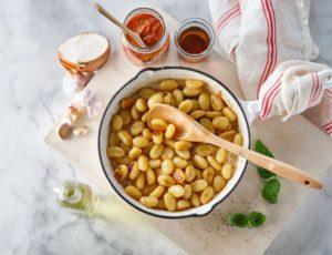 Gnocchis caramélisés à l'érable sauce tomate