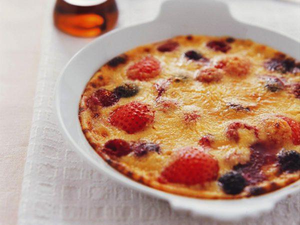Recette — Gratin de fruits au fromage cottage et à l'érable