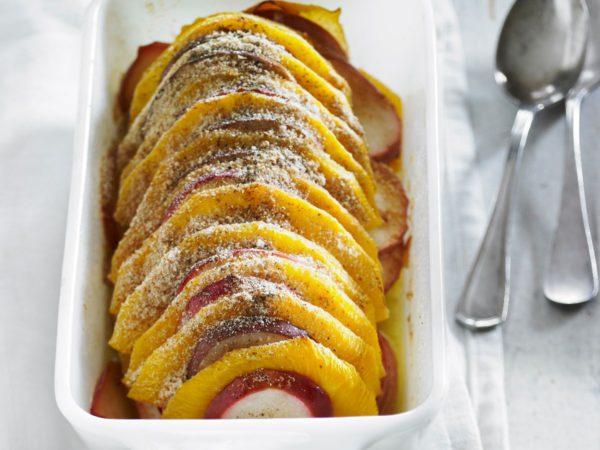 Recette — Gratin de navets et de pommes à l'érable