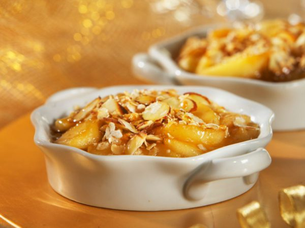 Recette — Gratin de pommes et amandes aux pépites d'érable