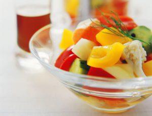 Légumes colorés marinés au sirop d'érable