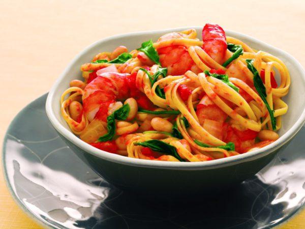 Recette — Linguine aux haricots blancs et aux crevettes