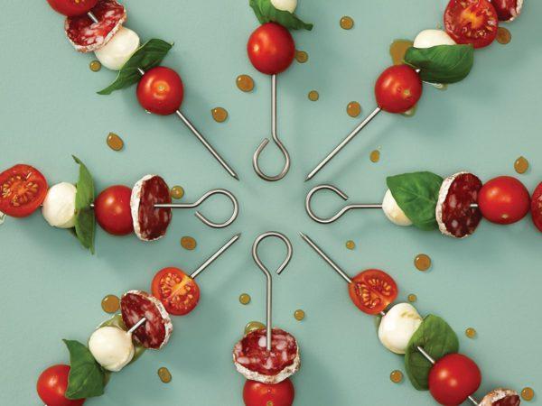 Recette — Minibrochette de tomates, de bocconcini et de saucisson à l'érable