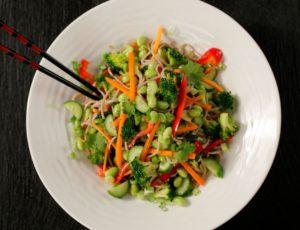 Nouilles de sarrasin aux légumes