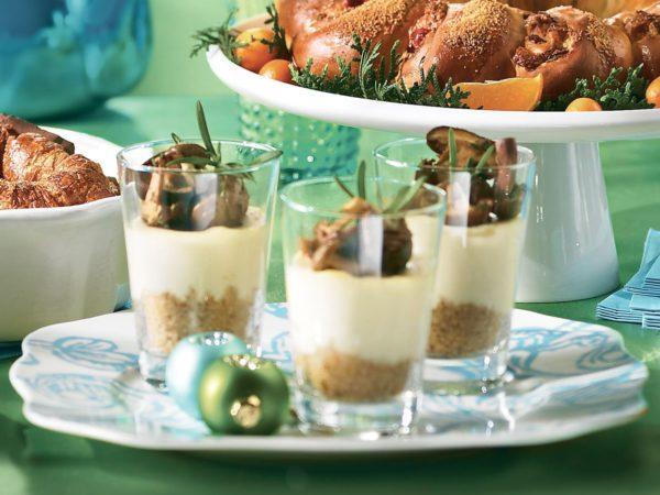 Recette — Petits pots de fromage de chèvre à l'érable et sauté de champignons