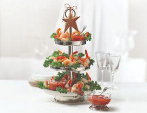 Plateau de crevettes et leur sauce cocktail à l'érable
