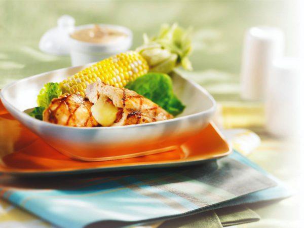 Recette — Poitrines de poulet farcies au Migneron et à l'érable