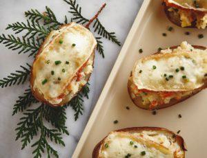 Pommes de terre farcies au fromage et à l'érable