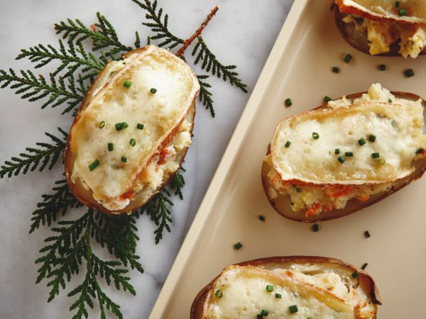 Recette — Pommes de terre farcies au fromage et à l'érable