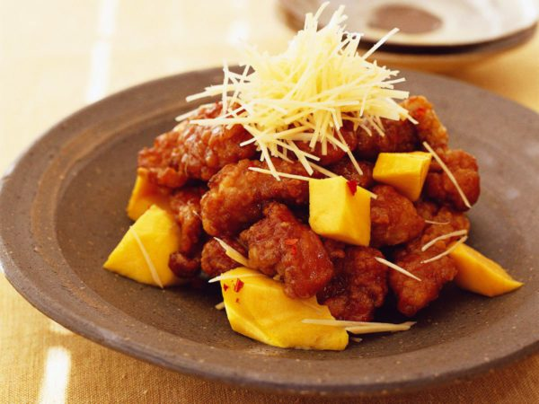 Recette — Porc aigre-doux frit avec mangue et sirop d'érable