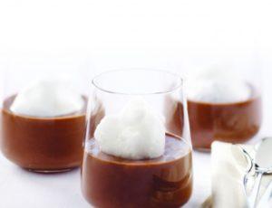 Pot de crème au chocolat amer et au sirop d'érable