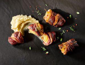 Rôti de magret de canard, foie gras et ananas confit érable-épices