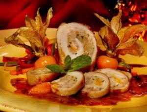 Roulades de dinde aux cerises de terre parfumées à l'érable