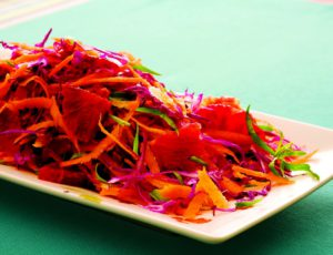 Salade de carotte crue citronnée
