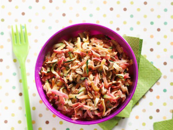 Recette — Salade de carottes et de courgettes à l'érable