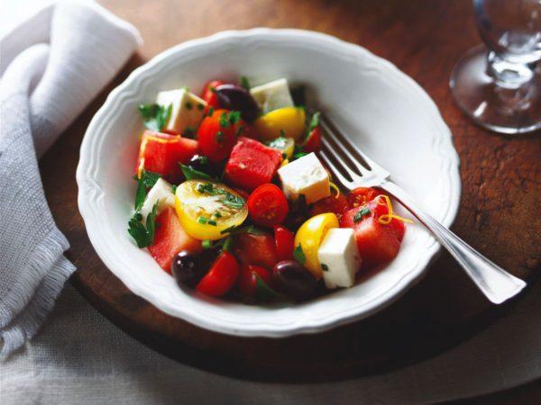 Recette — Salade de tomates cerises et melon d'eau à l'érable