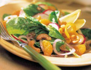 Salade verte, vinaigrette à l'érable