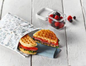 Sandwich gaufres-jambon-érable
