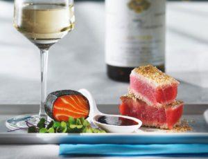 Sashimi de saumon à l'érable