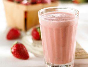 Smoothie crémeux aux fraises et à l'érable