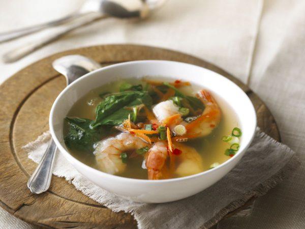 Recette — Soupe aux crevettes à la réduction d'eau d'érable