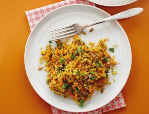 Taboulé de millet aux carottes à l'érable