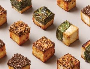 Amuse-tofu caramélisés à l'érable