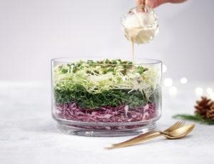 Étagé de salade de choux à l'érable