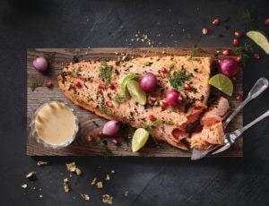 Summum de saumon au thé fumé et à l'érable