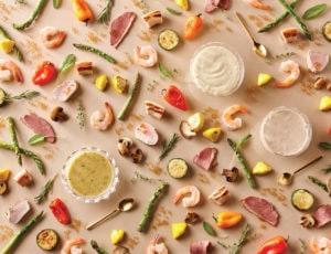 Vinaigrette, mayonnaise et sauce à l'érable