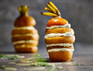 Betteraves jaunes ou chioggia caramélisées à l'érable, aneth et citron