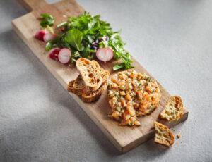 Tartare de saumon au sucre d'érable