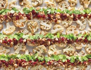 Chou-fleur rôti à l'érable et aux noix