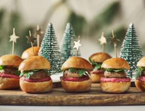 Mini-burgers aux champignons et balsamique à l'érable