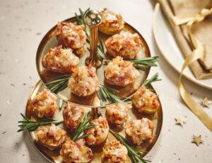 Pommes de terre grelots aux oignons caramélisés à l'érable