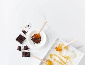 Tire d'érable et chocolat noir